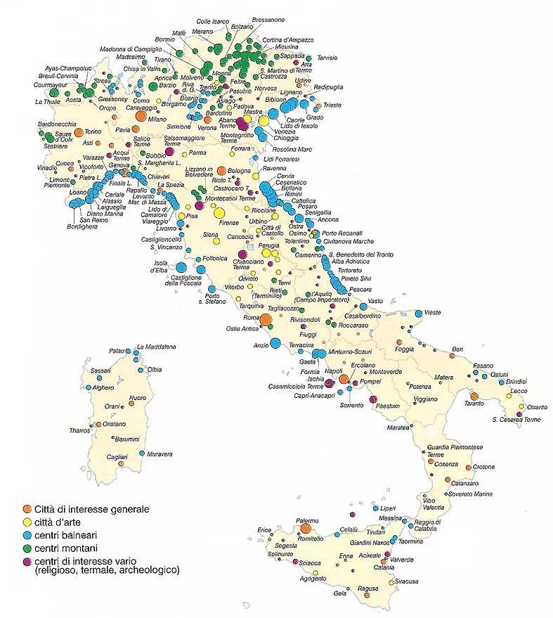 Cartina Italia Asti.Italia Mappa Turistica