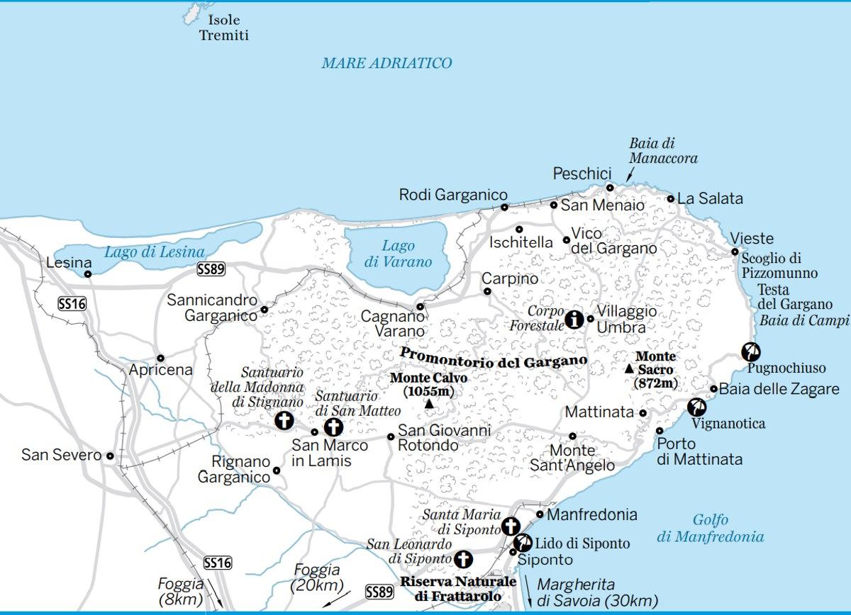 Cartina Puglia Zona Gargano.Il Gargano Dove Andare Cosa Vedere Cosa Fare